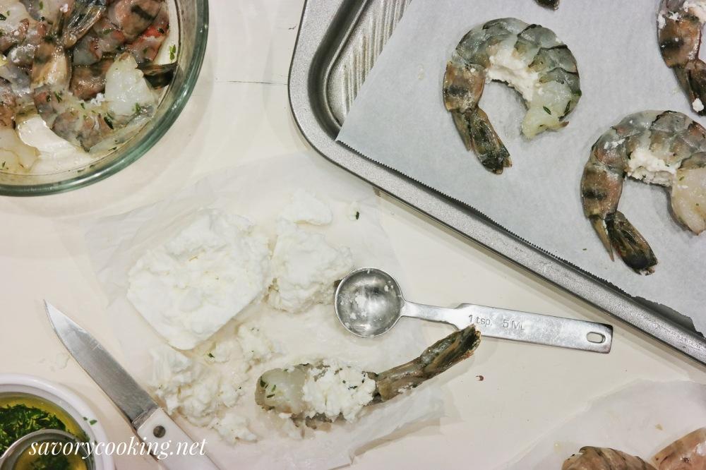 Feta stuffed Colossal Shrimp